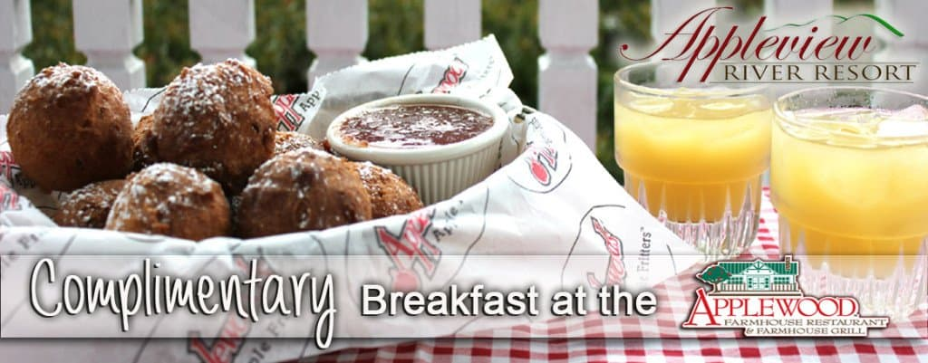 Complimentary breakfast at Applewood Farmhouse from Appleview River Resort