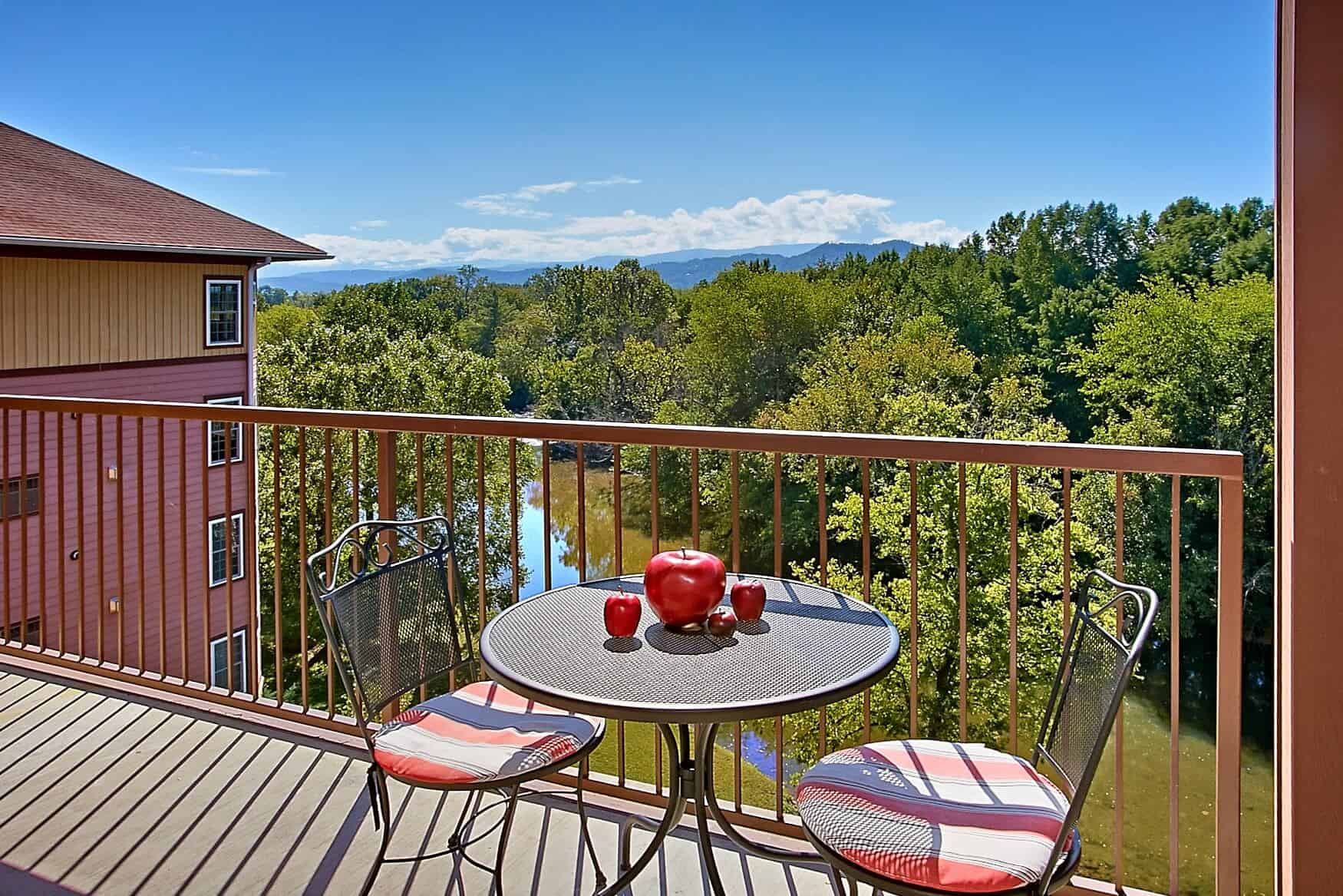 Condo rental with a view of the Smoky Mountains