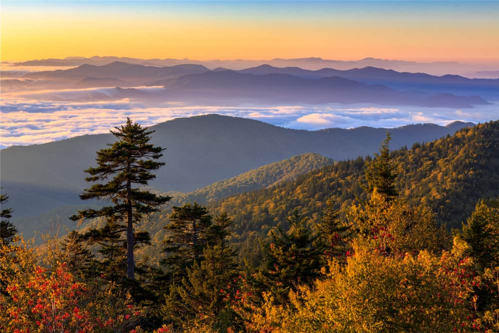 view of smokies in fall