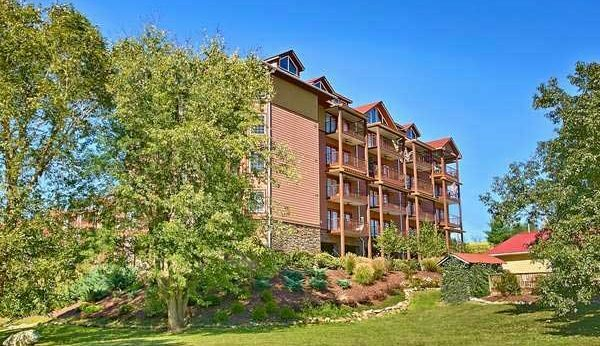 Riverside condos in the Smoky Mountains at Appleview River Resort near Pigeon Forge TN.